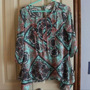 Tops - PRINTED BLOUSE SIZE SMALL